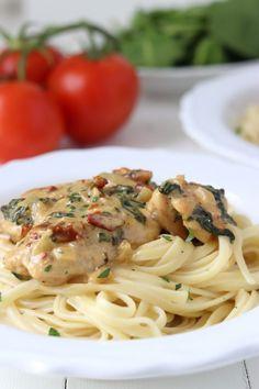 Super Ideas For Pasta Recepten Kip Healthy Pasta Recipes, Chicken Recipes, Pizza, Beignets, I Love Food, Italian Recipes, Food Inspiration, Food And Drink, Dinner Recipes
