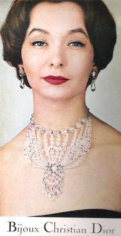 1956 Christian Dior jewelry ad