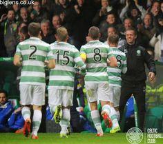 Celtic 4-1 Kilmarnock, 15th April 2015. The Celtic team get praise from their manager Ronny Deila after scoring four goals against Killie.