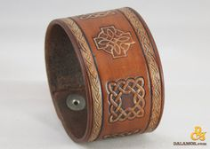 Celtic Leather Cuff Legacy by Dalamor on Etsy