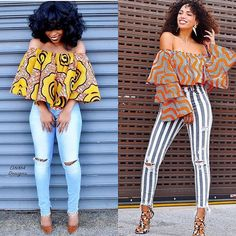 Ankara styles 486951778458241957 - Howdy Ankara Lovers, Today, we bring you Super Stylish Photos Of Ankara Tops and Trouser styles that are totally meant to inspire you to spur creativity in every fashion designer out there. African Fashion Ankara, Latest African Fashion Dresses, African Print Fashion, Africa Fashion, Fashion Prints, Modern African Fashion, African Style Clothing, Nigerian Fashion, African Fashion Designers