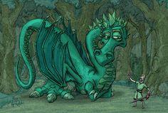 The Dragon Qahir and Sir Wexford on Behance