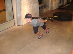 Use the TRX to make a tire sled Alli McKee Tire Drag