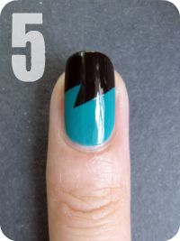 #NailArt #Tutorial Fancy, unique take on a french manicure!