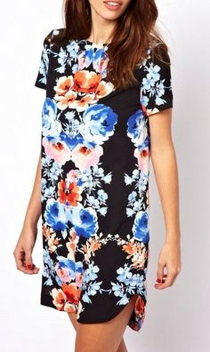 Floral Printed Shift Dress $54  Available now in S, M & L Email lillilouise@outlook.com to order