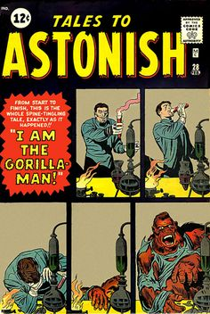 Tales to Astonish comic books comics Kirby Comic Book Artists, Comic Artist, Comic Books Art, Space Ghost, Vintage Comic Books, Vintage Comics, Old Comics, Marvel Comics, Tales To Astonish
