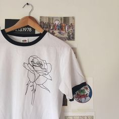 Rose Ringer T-shirt by RibbedShop on Etsy 8544209e736e7