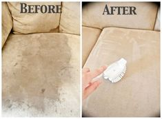 Clean a microfiber couch. | 28 Ways To Fix Stuff Your Kids Ruined