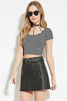 ¡Cómpralo ya!. Striped Crop Top. details   Style Deals - This knit crop top features allover stripes, a scoop neckline, and short sleeves.  Content + Care   - 95% rayon, 5% spandex- Hand wash cold- Made in Vietnam  Size + Fit  - Model is 5'9.5%22 and wearing a Small- Full length: 15%22- Chest: 28%22- Waist: 26%22- Sleeve length: 5%22 , topcorto, croptops, croptop, croptops, croptop, topcrop, topscrops, cropped, topbailarina, corto, camisolacorta, crop, croppedt-shirt, kurzestop, topcorto…