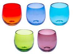 Bubble Taru Glass (d70 x h80mm) 5pcs mfr. Ryukyu Glass Craft Taru Glass: Barrel Glass