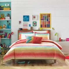 Teen Vogue® Electric Beach Comforter Set in Coral - BedBathandBeyond.com