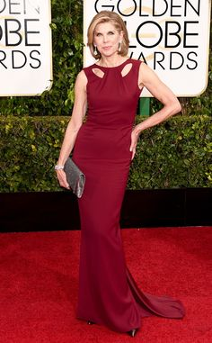 This Zac Posen dress is perfect for Christine Baranski!