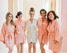 PERSONALIZED Bridesmaid robe Red Burgundy wedding robe cheap ...