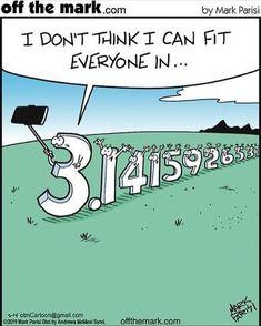 I think you can becouse i only see 2 1 😂😂😂😂😂 Pi Jokes, Funny Math Jokes, Math Puns, Math Memes, Nerd Jokes, Science Jokes, Math Humor, Nerd Humor, Teacher Humor