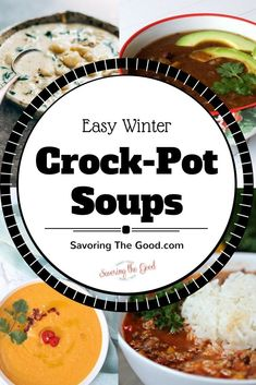 If you are looking for some good winter soups to warm you from within, these winter crock pot recipes will surely hit the spot. This collections of easy winter soups will bring you delicious bowls full of comfort. These are some of my favorite winter slow cooker recipes. #crockpot #slowcooker #crockpotrecipe #slowcookerrecipes #soups #crockpotsoups #wintersoup #winterrecipe #winterslowcooker