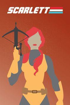 G.I. Joe Poster: Scarlett (Minimalist Design)