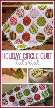 I just LOVE a circle quilt - simple to make, but oh so cute - - love this holiday version.  tutorial via Sugar Bee Crafts