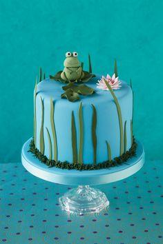 Beautiful frog cake