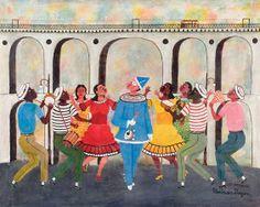 Samba nos Arcos da Lapa, 1964 Heitor dos Prazeres ( Brasil 1898-1966) Óleo sobre tela