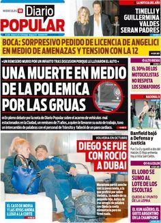 Otro nuevo día en el que los titulares de los diarios marcan tendencia en la agenda de temas de la sociedad argentina. Diario Popular te los acerca a tu computadora para qué veas lo que pasa en el país. Visitános en www.diariopopular.com.ar