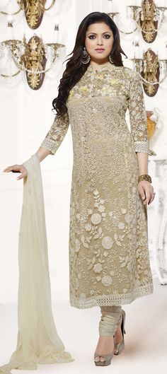 433657: White and Off White color family semi-stiched Party Wear Salwar Kameez.