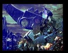 Trypticon vs Metroplex by LivioRamondelli.deviantart.com on @deviantART