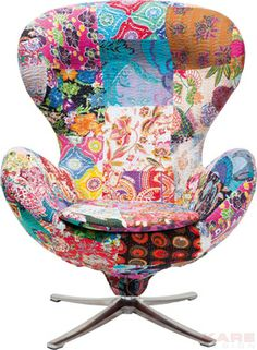 Swivel Chair Lounge Flower Surprise
