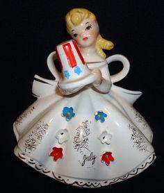 Lefton July Angel #1853 Birthday Figurine