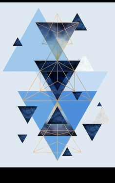 Geometric Triangle Compilation in Blue Throw Pillows Blue Wallpaper Iphone, Geometric Wallpaper, Blue Wallpapers, Pretty Wallpapers, Screen Wallpaper, Cool Wallpaper, Pattern Wallpaper, Wallpaper Backgrounds, Geometric Designs