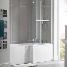 Bath Shower Mixer Taps, Bath Taps, Shower Set, Large Bathrooms, Small Bathroom, Bathroom Ideas, L Shaped Bath, Bath Screens, Bath Panel