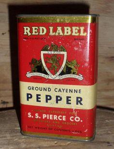S.S. Pierce Cayenne Pepper Spice Tin - Boston - $22.00
