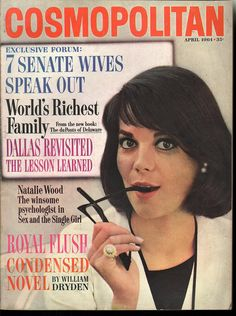 Cosmopolitan magazine APRIL 1964  Model: Natalie Wood