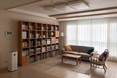 집꾸미기 Muji, Bookcase, Divider, Shelves, Living Room, Swan, Study, Interiors, Furniture