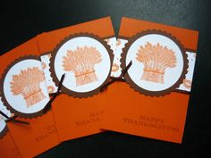Thanksgiving Greeting Cards Set of 4 by apaperaffaire on Etsy