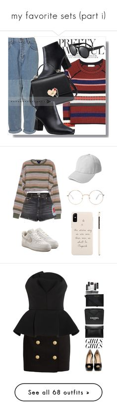 """my favorite sets (part i)"" by heypandagirl ❤ liked on Polyvore featuring Tory Burch, contestentry, polyPresents, Sonia Rykiel, Forever 21, NIKE, Balmain, Chalayan, Giuseppe Zanotti and Bobbi Brown Cosmetics"