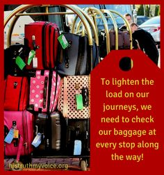 "It's spring cleaning time and perhaps the best place to start is with the elimination of our excess ""spiritual baggage""... http://histruthmyvoice.org/?p=2243"