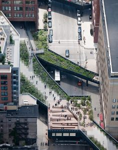 "High Line -""park in the air"" built on section of the former elevated New York Central Railroad  www.thehighline.org/"