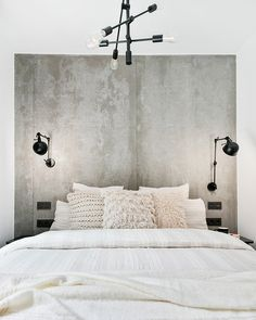 Hospitable chaired bold bedroom renovations info try these out Bedroom Art Above Bed, Bedroom Wall, Bedroom Decor, Concrete Bedroom, Living Room Scandinavian, Scandinavian Style, Couches For Small Spaces, Living Room Decor Colors, Modern Home Interior Design