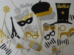 Parisian Inspired Wedding Photo booth props by weddingphotobooth, $150.00