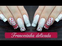 UNHAS DECORADAS FRANCESINHA DELICADA - Ideia Rosa - YouTube