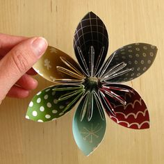Directions with pictures at: http://create.northridgepublishing.com/how-to-make-a-paper-flower/