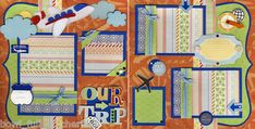 Our Trip Vacation 2 Premade Scrapbook Pages 12x12 Cherry Travel Scrapbooking | eBay