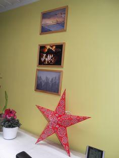 05 dec 2014 - thema foto's en een kerstster met lichtjes maakt het gezellig bij schemer !