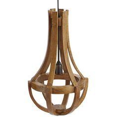 pier1.com: Maison Wood Pendant Lamp - Pecan Brown (2773265) $129.00