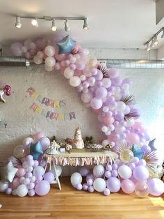 Unicorn Theme Balloon Garland designed by gromeza designs