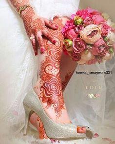 Bridal Mehendhi  ❤❤♥For More Follow On Insta @love_ushi OR Pinterest @ANAM SIDDIQUI ♥❤❤