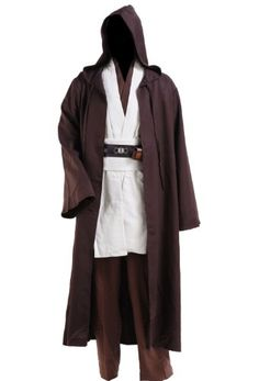 Fabric: LinenCottonPolyester(Robe) Imported Cosplay Star Wars Jedi Robe Costume Obi-Wan Kenobi Halloween Outfit Including: Inner TunicOuter TunicTabardBelt(simple version)PantRobe Please check the size chart in the product description caref. Star Wars Jedi, Star Wars Stormtrooper, Star Wars Dark, Darth Vader, Cape Costume, Costume Jedi, Costume Star Wars, Traje Jedi, L Cosplay