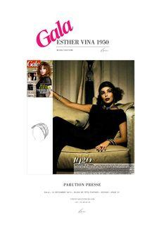 Eva Longoria portant le bijou de tête Feather (Collection Voyage) à découvrir page 21 de Gala (25 décembre 2013)
