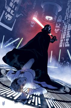 Vader takes no prisoners ~ art by Adam Hughes