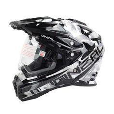 Oneal 2018 Sierra Dual Sport Edge Sniper Black/White Helmet